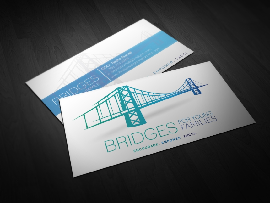 Bridges For Young Families Business Card Mock-Ups
