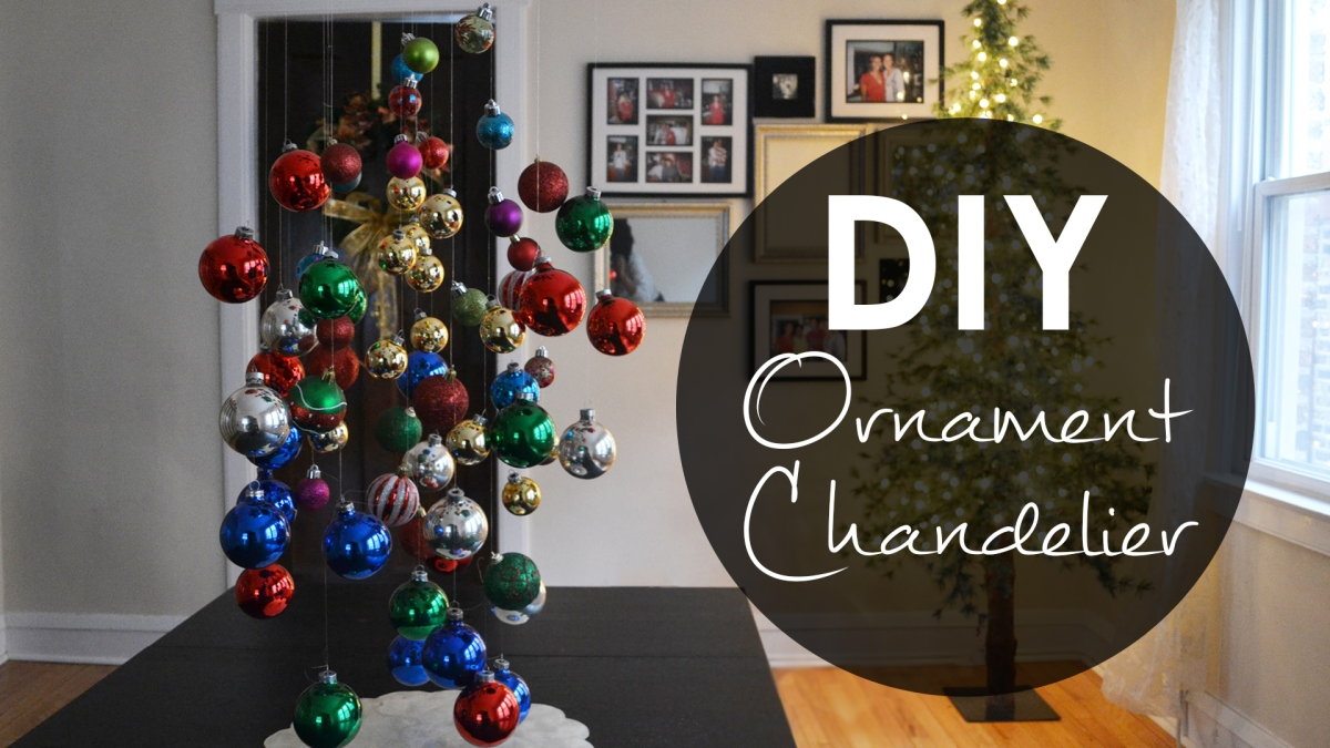diy ornament chandelier christmas decoration ideas t bennett shannon design - How To Decorate A Chandelier For Christmas